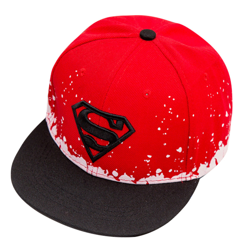 d7f47c0a05a Flat Snapback Cap Kids Hat 2018 High Quality Casual Embroidery Superman Hats  For Boys Girls Adjustable Hip Hop Casquette Gorras -in Baseball Caps from  ...