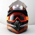 Marca de la motocicleta de motocross casco de off road racing bike capacete casco de moto casco con gafas