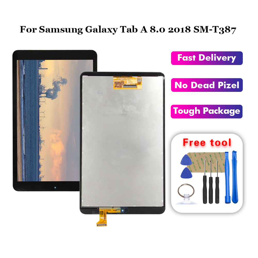 FOR SAMSUNG Tab E 8.0 2018 SM-T387V T387P T387T T387A LCD display touch screen Panel digitizer assembly
