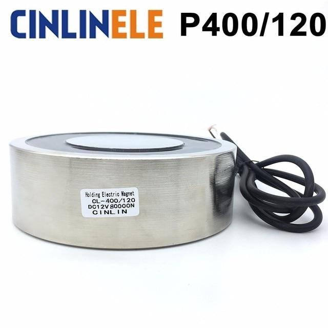 CL-P 400/120 8000KG/80000N Holding Electric Magnet Lifting  Solenoid Sucker Electromagnet DC 6V 12V 24V Non-standard custom
