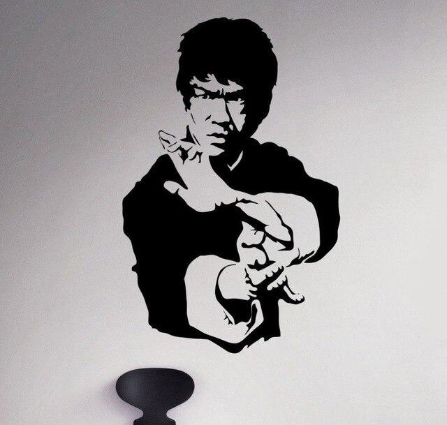 Aliexpress.com : Buy Removable Bruce Lee Wall Vinyl Decal Kong Fu ...