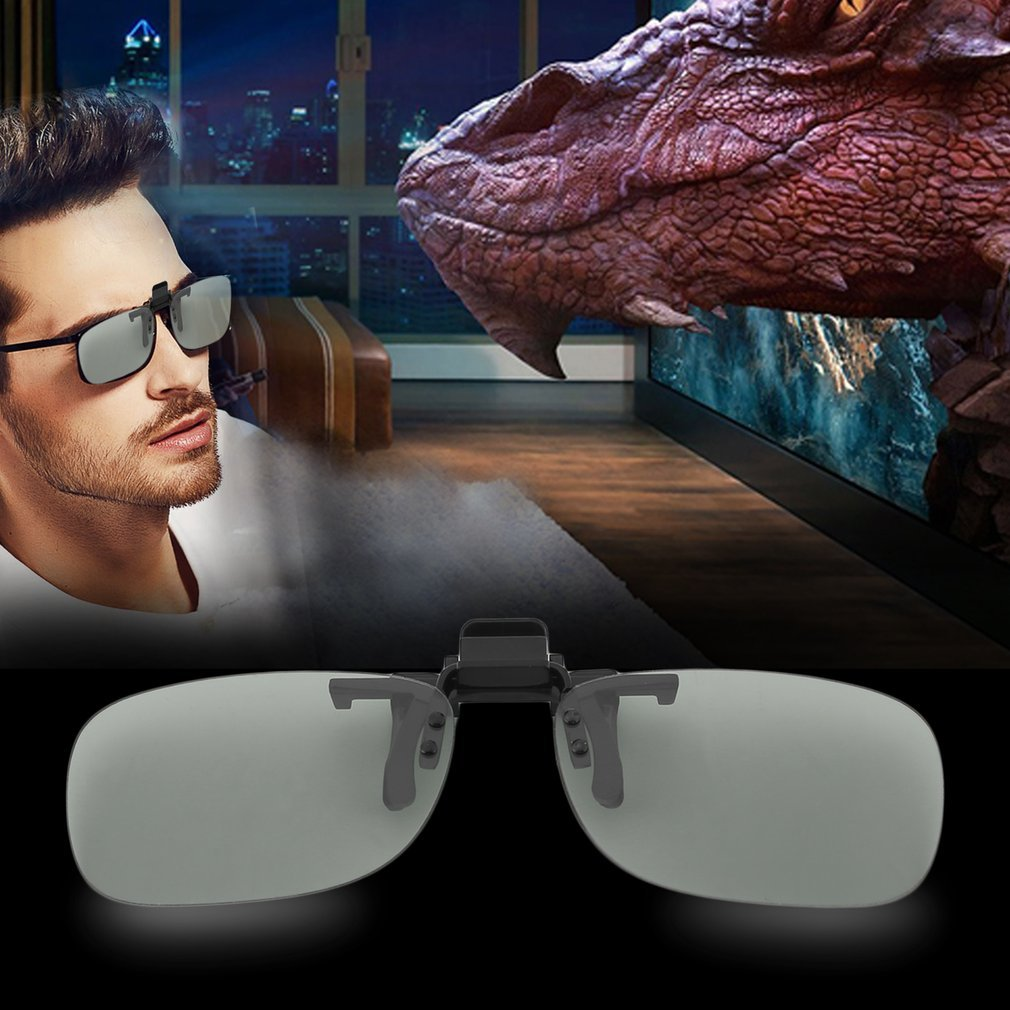 Clip On Passive Circular Polarized 3D Glasses Clip for LG 3D