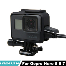 цена на HERO7 hero6 Hero5 Protective Housing Frame Case with Hand Strap for GoPro Hero 5 black Go pro 7 6 5 Sports Camera Accessories