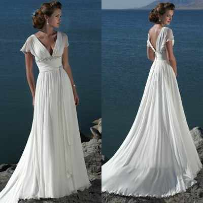 012dbb6ca7906 Detail Feedback Questions about Simple Boho Beach Long Wedding Dress ...