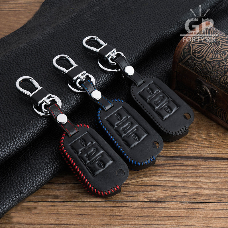 Leather <font><b>car</b></font> <font><b>key</b></font> fob bag cover <font><b>case</b></font> set <font><b>protect</b></font> for <font><b>Peugeot</b></font> 3008 308 RCZ 508 408 2008 407 <font><b>307</b></font> for Citroen C4L CACTUS C5 C3 C6 C8 image