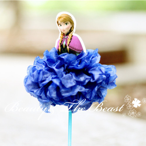 72 High Princess Snow Queen Elsa Cupcake Toppers Birthday Party Decorations Kids Candy Bar