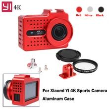 Yi 4K Camera accessories Aluminium Alloy Metal Housing Frame Xiaoyi Protective Case + UV filter for Xiaomi Yi 4K 2 4K+ Camera все цены