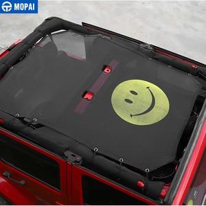 Image 4 - Mopai 2/4 ドア車トップサンシェードカバー屋根の抗uv太陽保護メッシュネットジープラングラーjk 2007 2017 車アクセサリースタイリング