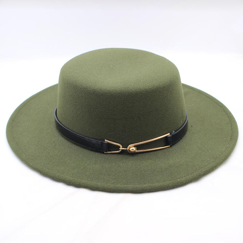 388c838f016 BING YUAN HAO XUAN 2018 New Fashion Winter Wool Pork Pie Boater Flat Top Hat  for Women Men Felt Wide Brim Fedora Player Hat