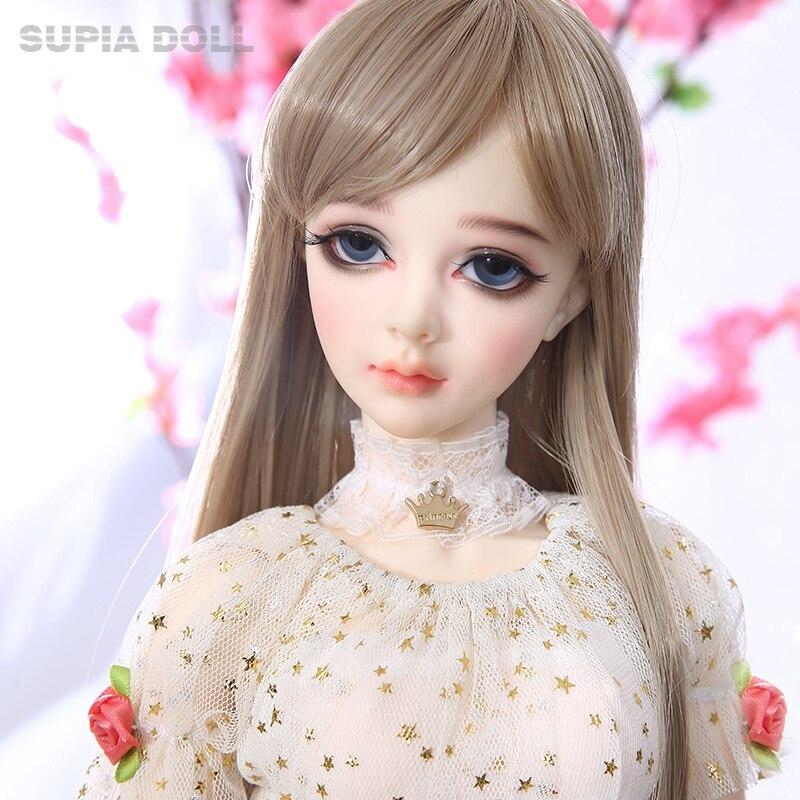 BJD Bonecas SD Supia Lina Menina 1/3 Resina Firgures Fullset Orelhas Elf Fairyland Dollmore Littlemonica Supergem Com Opcional