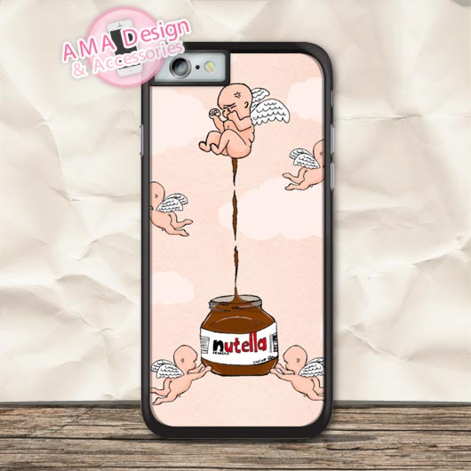 Lovely Angles And Chocolate Protective Case For iPhone X 8 7 6 6s Plus 5 5s SE 5c 4 4s For iPod Touch