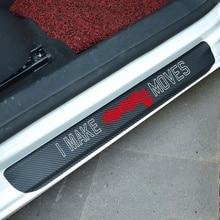 4pcs Carbon Fiber Vinyl Door Sticker Car Window Protector for  Accessories