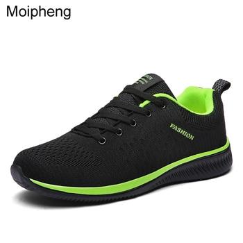 Moipheng malha feminina sapatos casuais rendas sapatos masculinos leve plus size respirável tênis de caminhada tenis feminino zapatos flat