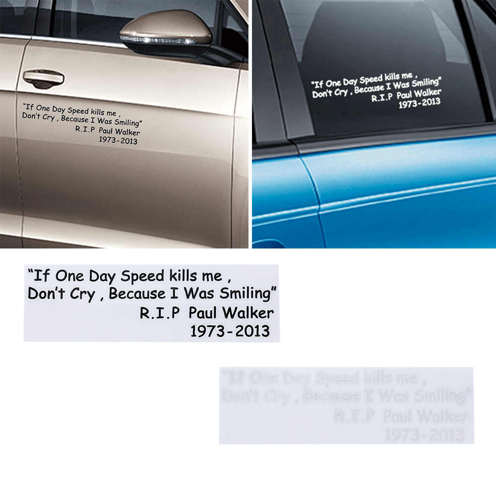 Paul Walker RIP Vinyl Sticker Auto Racing Car Drift Turbo Euro Decal