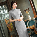 Free shipping high-grade cheongsam dress Oriental dress silk cheongsam qipao dress chinese traditional clothing hot sale 247