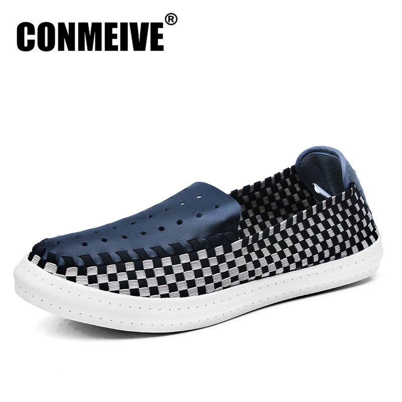 Top Fashion Superstar Shoes Men Breathable Slip-on Summer Flat Popular Style Loafers Rubber Mesh Light Mens Trainers Tenis image
