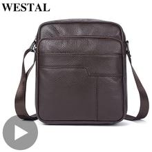 лучшая цена Crossbody For Genuine Leather Men Shoulder Bag Messenger Handbag Briefcase Male Cross Body Vintage Black Sac A Main Bolsas Hot