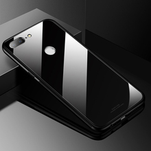 Huawei Honor 9 Lite Case Luxury Slim Fit Glossy Tempered Glass Silicone Frame Hard Cover