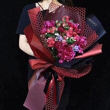 Свежий цветок оберточная бумага флорист сетчатая бумага букет поставки полые круглые упаковочные материалы Свадебная вечеринка Деко 60 см* 5 ярдов