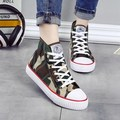 2017 women shoes new arrival spring high-top camouflage canvas women fashion comfortable casual women  shoes