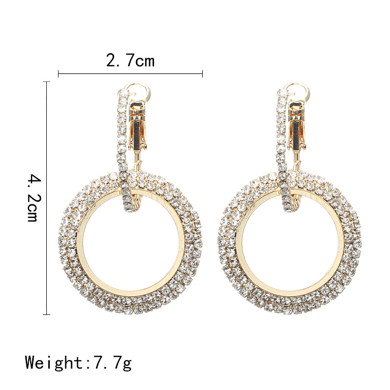 Simple Style Fashion Silver Gold Color Earrings for Women Square Round Geometric Hanging Earrings 18 Female Pendientes Jewelry 3