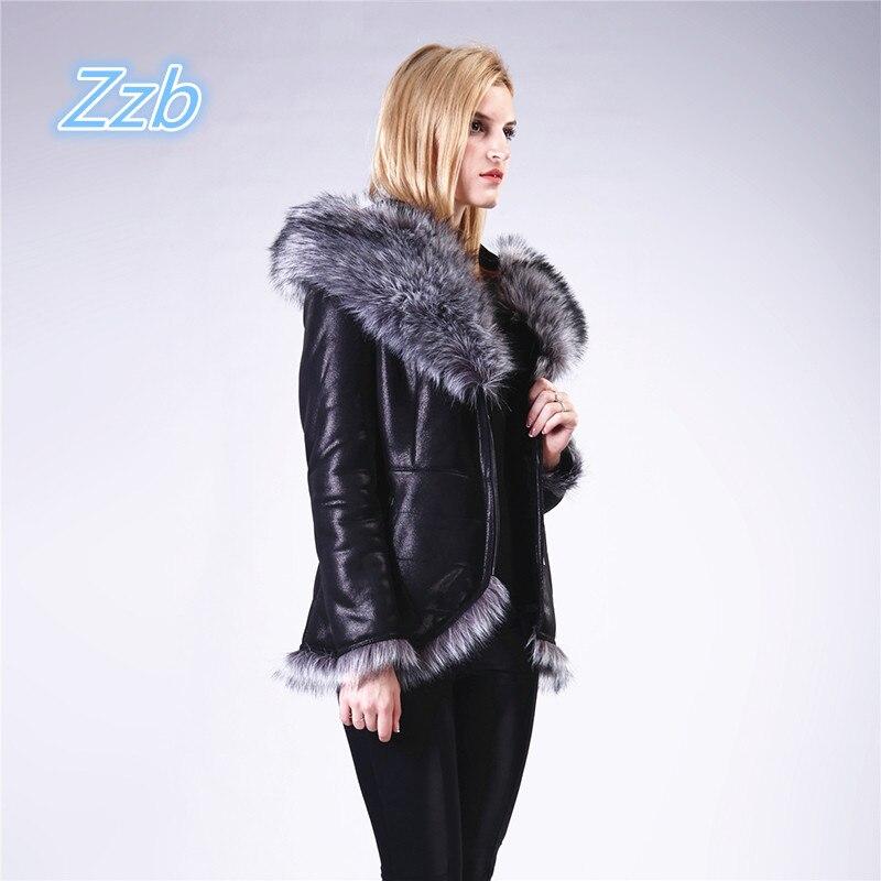 Fashion winter fur short design female large fur collar overcoat thick thermal women's Faux Sheepskin Winter Resist cold Wear