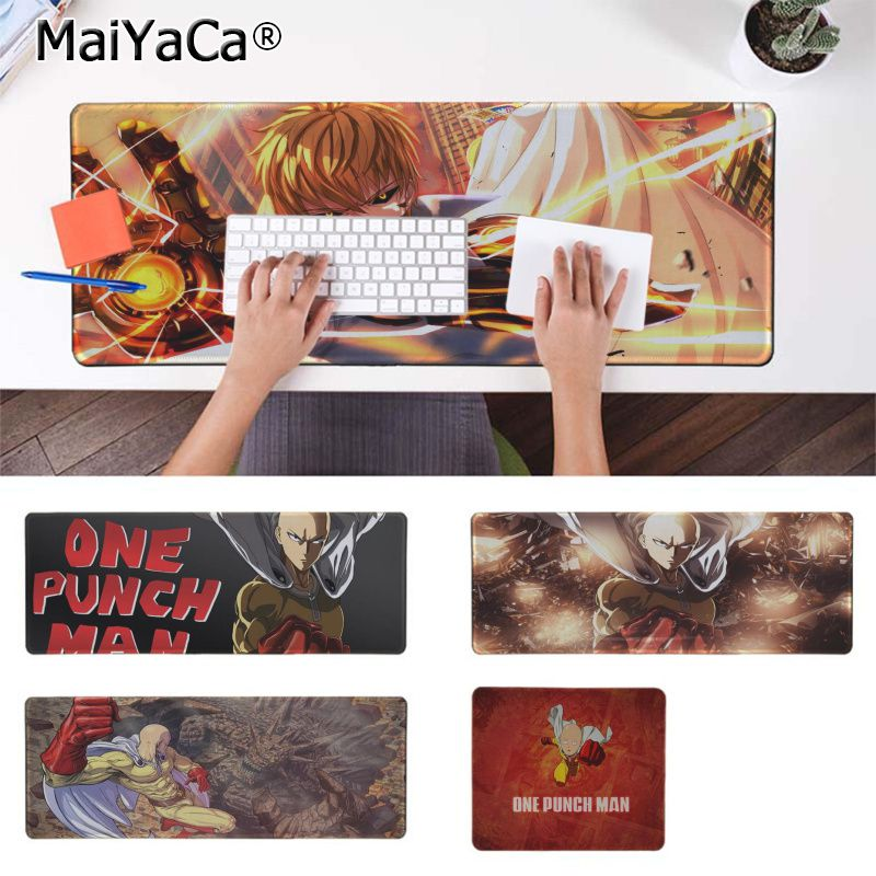 Maiyaca New Designs ONE PUNCH MAN Office Mice Gamer Soft Mouse Pad Rubber PC Computer Gaming mousepad