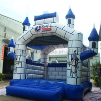 Free Delivery 4x4x4 meters Inflatable bouncy castle Outdoor Recreation 0.55mm PVC bouncers for trampoline toys
