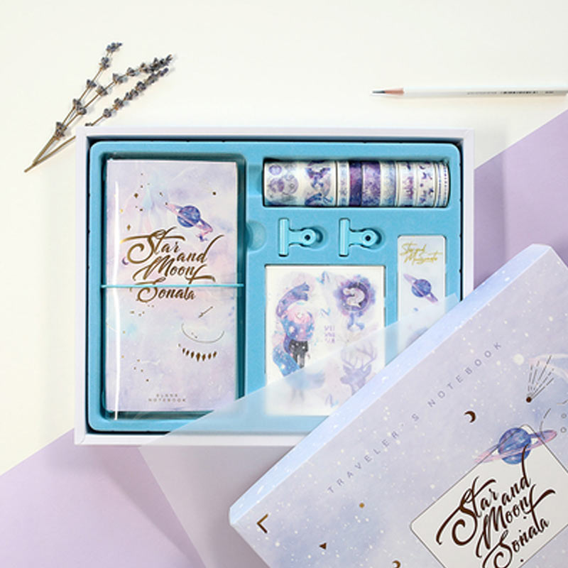 2019 Yiwi PP Transparent Standard Travel Notebook With Blank Grid Month Filler Pages With Gifts Box 2019 Yiwi PP Transparent Standard Travel Notebook With Blank Grid Month Filler Pages With Gifts Box