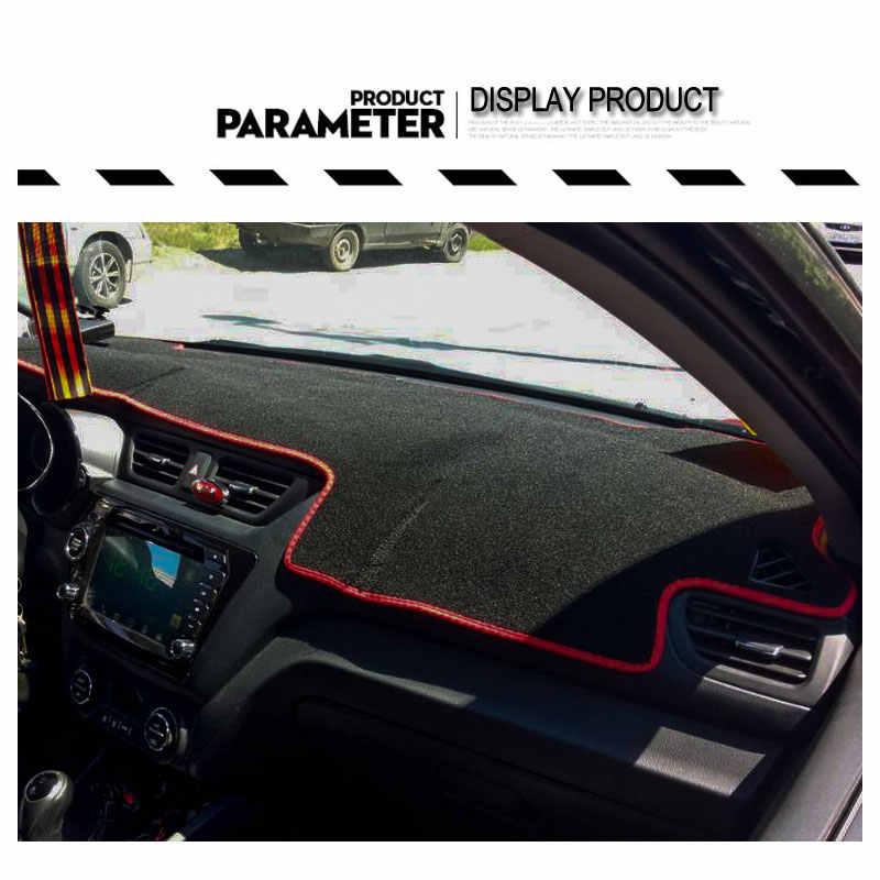 Ru 起亜リオ K2 3 2016 2015 2014 2013 2012 LHD 車のダッシュボードマットカバーマットパッド車でペットプロテクターシェードクッション自動パッド