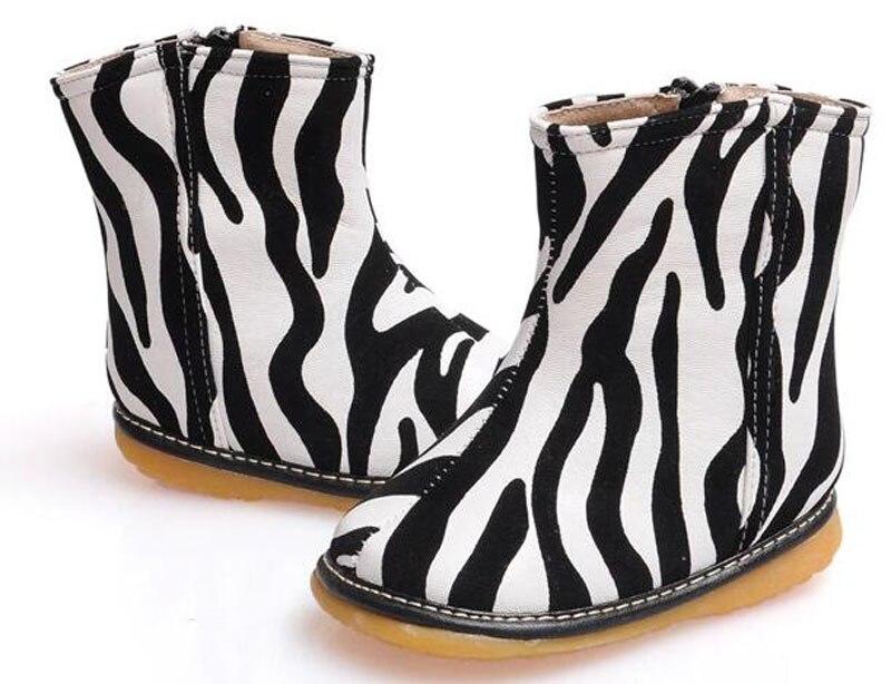 ΞNuevos bebés Boot pu cebra zapatos del caminante squeakers squeak ...