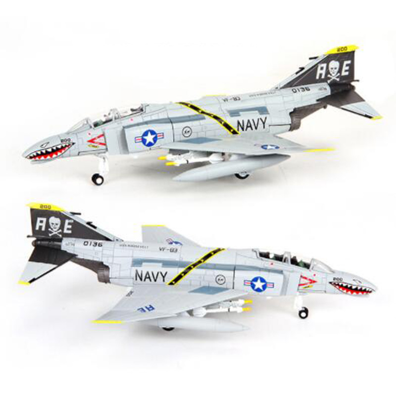 1/100 scale F-4C military <font><b>aircraft</b></font> plane airplane <font><b>models</b></font> toy adult children toys for display show collections image