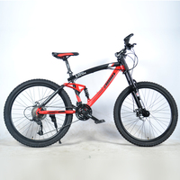 new style 26inch mountain bike 21 speed 24speed and 27speed double damping spoke wheel bicycle double disc brakes mountain bike
