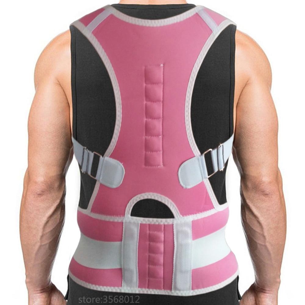 Unisex Chest Breast Waist Magnetic Support Belt Band Back Posture Corrector Brace Body Sculpting Strap Back Shoulder Vest Corset