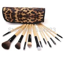 Professional Makeup kits 12pcs/set  Brush Cosmetic Face Make Up Set tools With Leopard Bag makeup brush tools hot sales