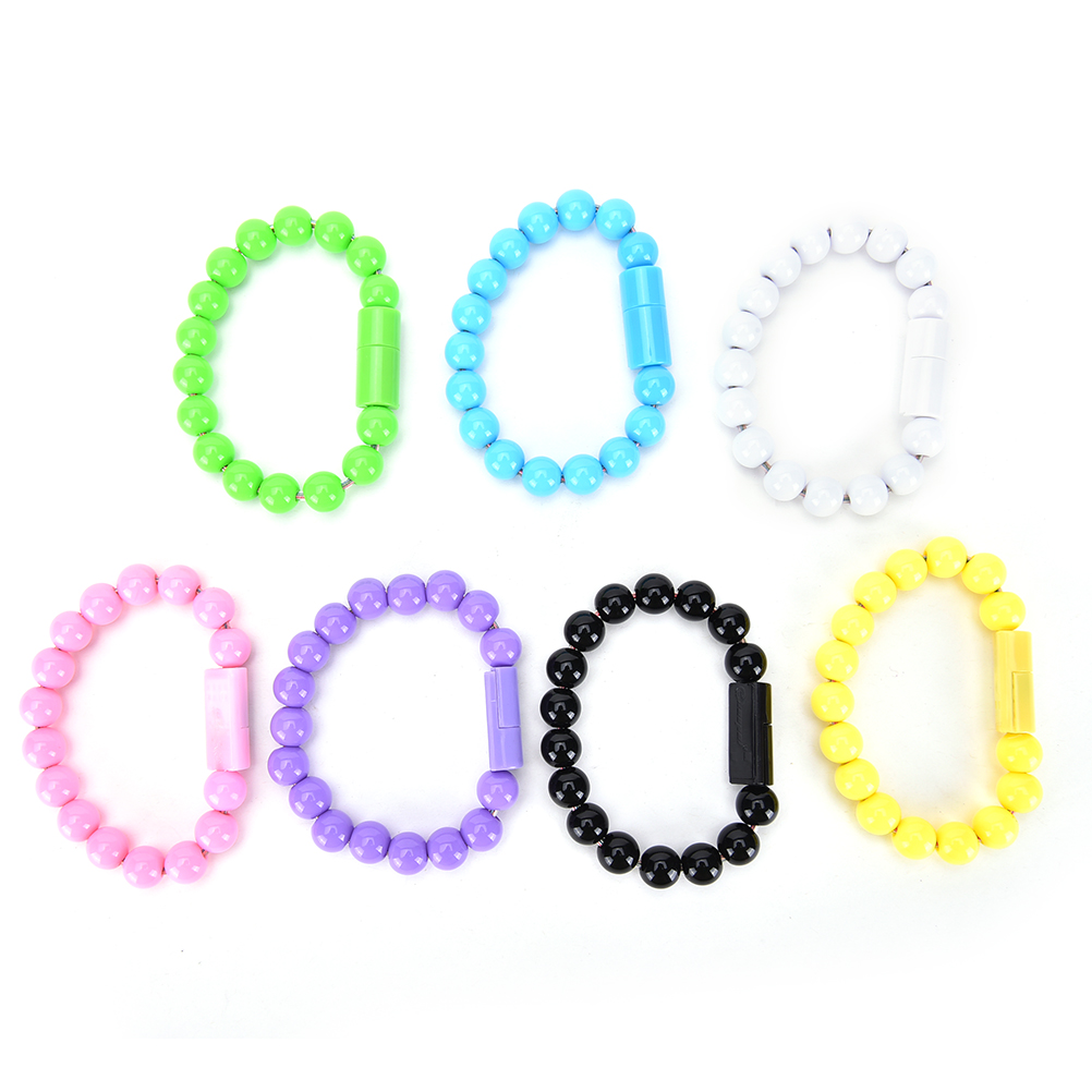 Unique Beads Netting Bracelet USB Charger Charging Data Sync Cable for Samsung charging docking station w usb data charging cable for samsung galaxy note i9220 black