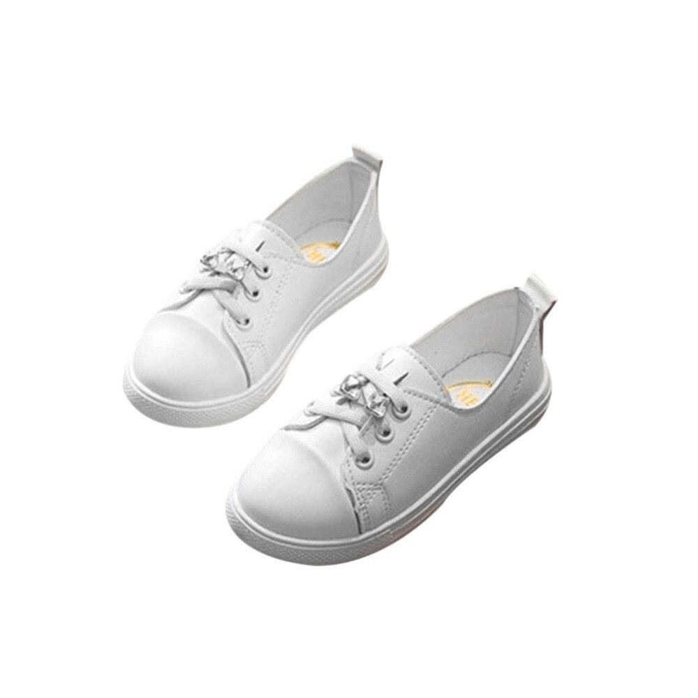 OUTAD дети девушка обувь pring универсальные Стиль Повседневное шнуровке Low-cut обувь против скольжения, износостойкие дышащие обувь ...