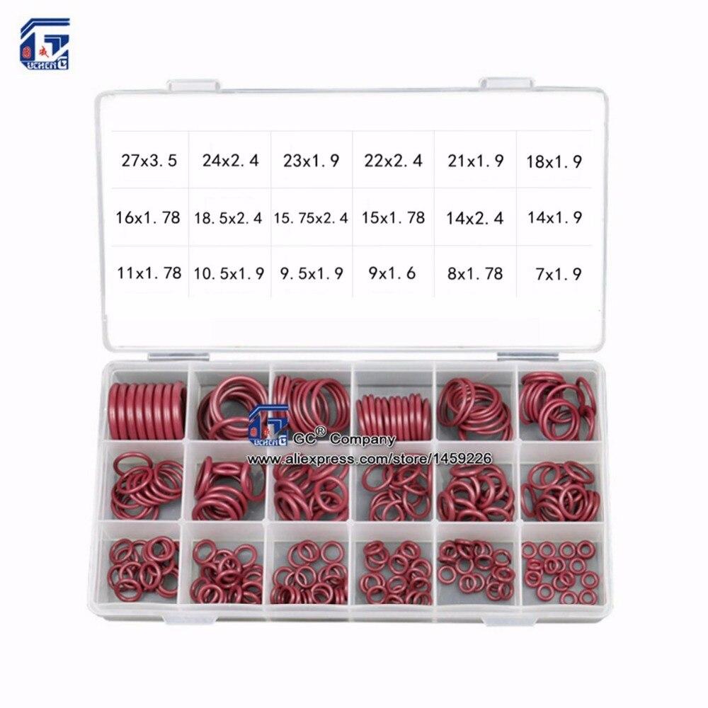 Уплотнительное кольцо ассортимент HNBR резиновое кольцо набор уплотнение комплект для/C автомобильной кондиционер уплотнения R134a r12 гидромех...