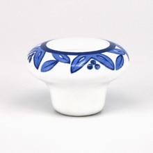 цена на Dia.32mm  Single hole round Ceramic door knob Kitchen Furniture knob cabinet knob drawer knob with flower print