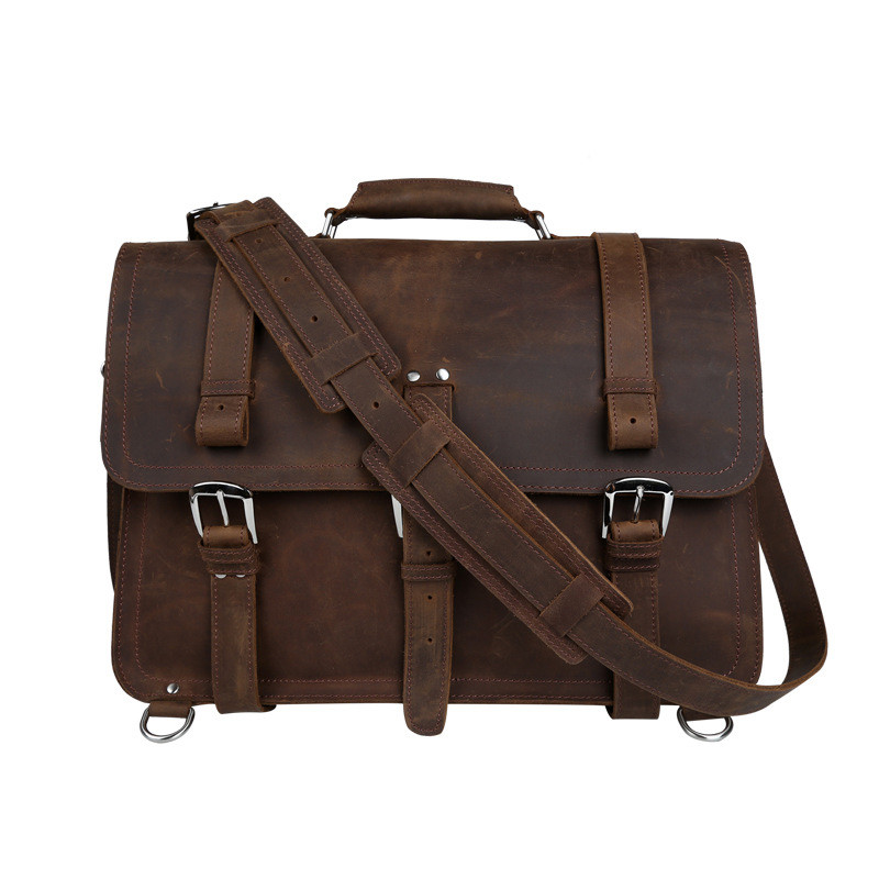 YISHEN Genuine Leather Business Men Briefcase Handbags Large Capacity Male Travel Bag Vintage Men Shoulder Crossbody Bags 5048 2016 new fashion business travel sports men handbags with high quality vintage male packs large capacity man bags