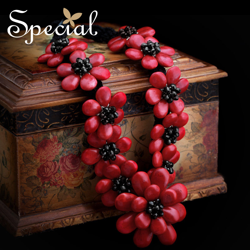 Special Brand New Fashion Flower Maxi Necklace Natural Onyx Necklaces & Pendants Statement Fine Jewelry for Women XL141148 - 5