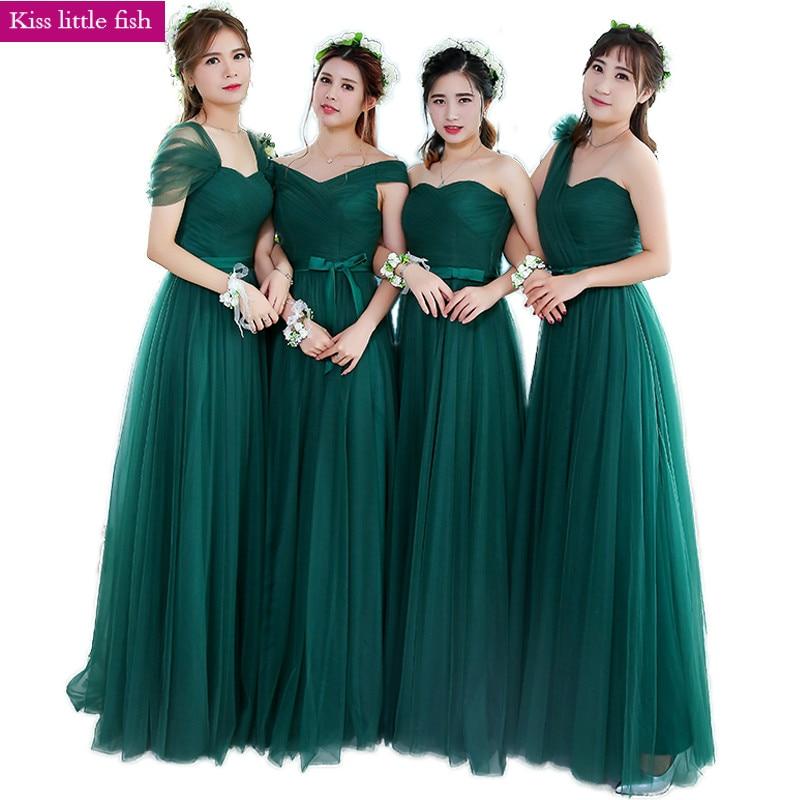 Brautjungfer Kleider Ksl133 Freies Verschiffen Smaragd Neue Neue Lange Brautjungfer Kleider Hochzeit Kleid Auswahlmaterialien Hochzeits-partykleid