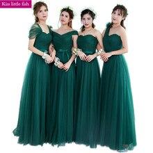 Ksl133 무료 배송 에메랄드 새로운 긴 들러리 드레스 웨딩 파티 드레스