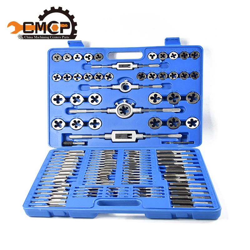 Hot! 110pcs Tap And Dies Set Tap Trapezoidal Alloy Steel Tap And Dies Set Screw Thread Metric Taps Hand Tools