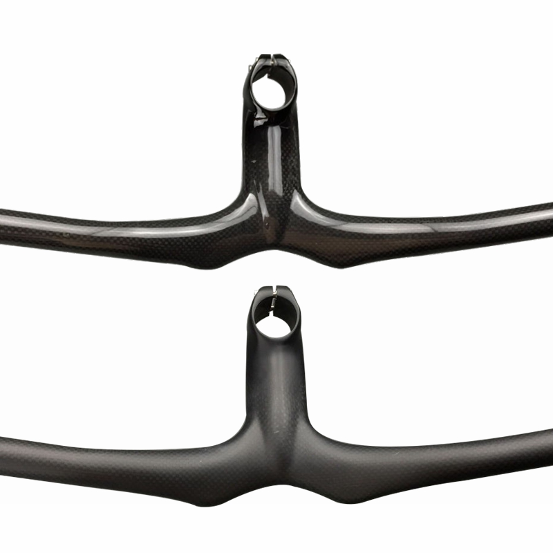 Glossy / Matte 3K <font><b>Carbon</b></font> Mountain Bicycle <font><b>Rise</b></font> <font><b>Handlebar</b></font> Integrated <font><b>Handlebar</b></font> Stem <font><b>MTB</b></font> Cycling Parts image