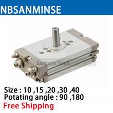 NBSANMINSE CRQ2 10 15 20 30 40mm Compact Rotary Actuator Rack Pinion Style Pneumatic Compressed Air Cylinder SMC Type