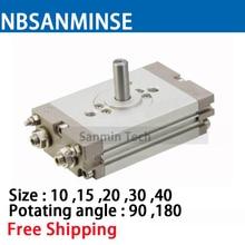 CRQ2 10-90 Oscillating Cylinder Ningbo SANMINSE Cylinder cy1l 10 0 100 rodless cylinder ningbo sanminse cylinder