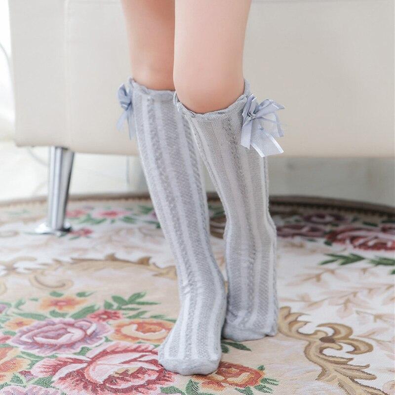 Toddler Kid Baby Boy Girl Knee High Long Socks Princess Bow Cotton Hot Stockings
