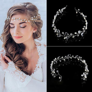 Crystal-Headbands Hair-Accessories Rhinestone Headwear Wedding Hair Ornament Pearl Bride