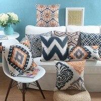 Nordic Geometric Throw Pillow Almofadas Case Seat Chair Bed Sofa Fashion Orange Design Cushion Cover Home